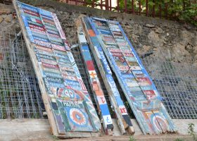 Koroni Painted Old Windows